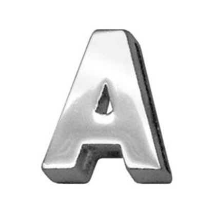 34IN (18mm) Chrome Letter Sliding Charms A 34 (18mm)