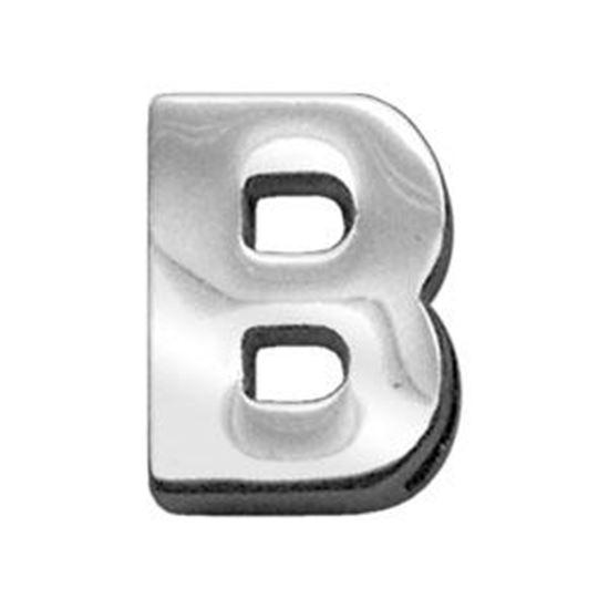 34IN (18mm) Chrome Letter Sliding Charms B 34 (18mm)