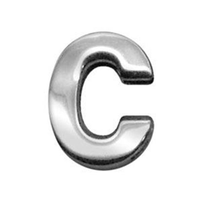 34IN (18mm) Chrome Letter Sliding Charms C 34 (18mm)