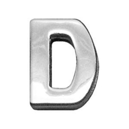 34IN (18mm) Chrome Letter Sliding Charms D 34 (18mm)