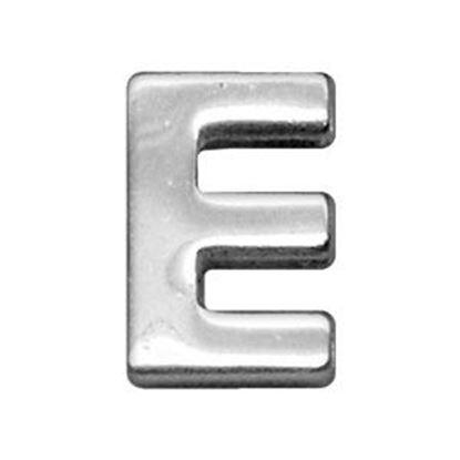 34IN (18mm) Chrome Letter Sliding Charms E 34 (18mm)