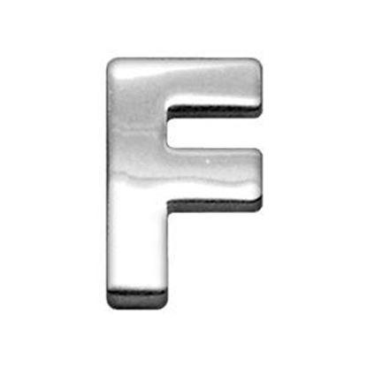34IN (18mm) Chrome Letter Sliding Charms F 34 (18mm)