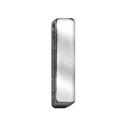 34IN (18mm) Chrome Letter Sliding Charms I 34 (18mm)