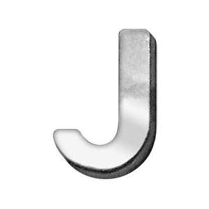 34IN (18mm) Chrome Letter Sliding Charms J 34 (18mm)