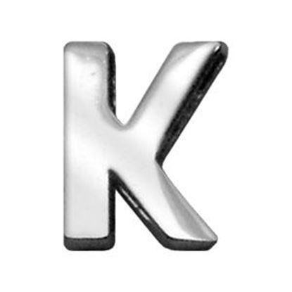 34IN (18mm) Chrome Letter Sliding Charms K 34 (18mm)