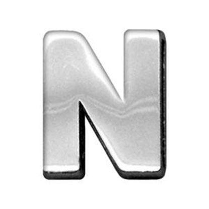 34IN (18mm) Chrome Letter Sliding Charms N 34 (18mm)