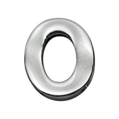 34IN (18mm) Chrome Letter Sliding Charms O 34 (18mm)