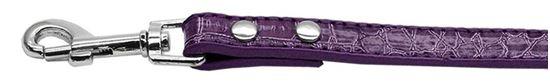 18mm  Two Tier Faux Croc Collar Purple 34IN Leash