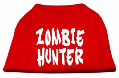 Zombie Hunter Screen Print Shirt Red XXXL(20)